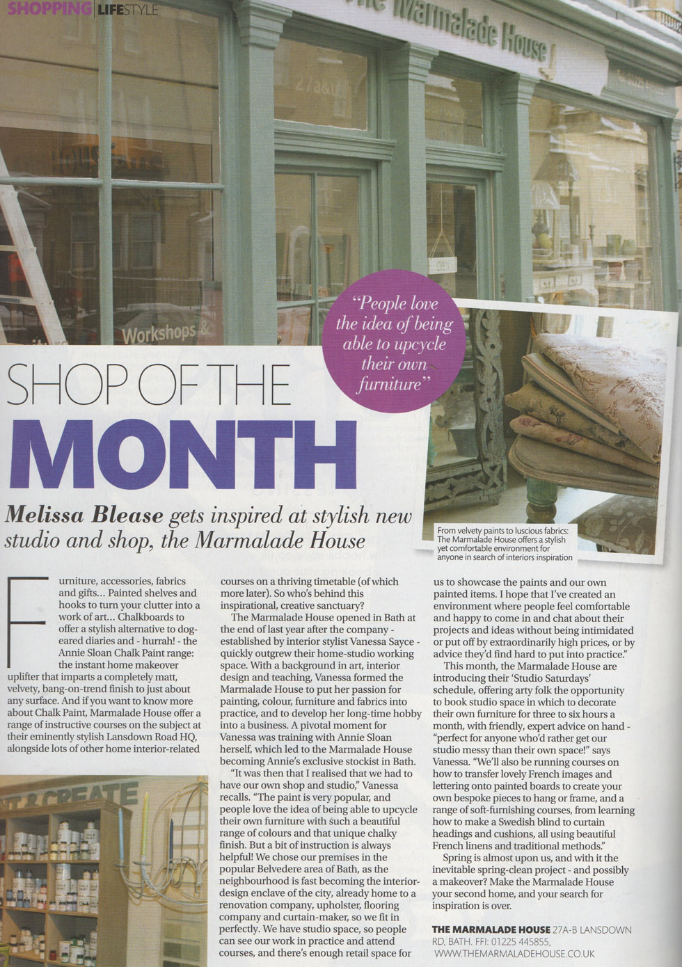 Article -Shop of the month