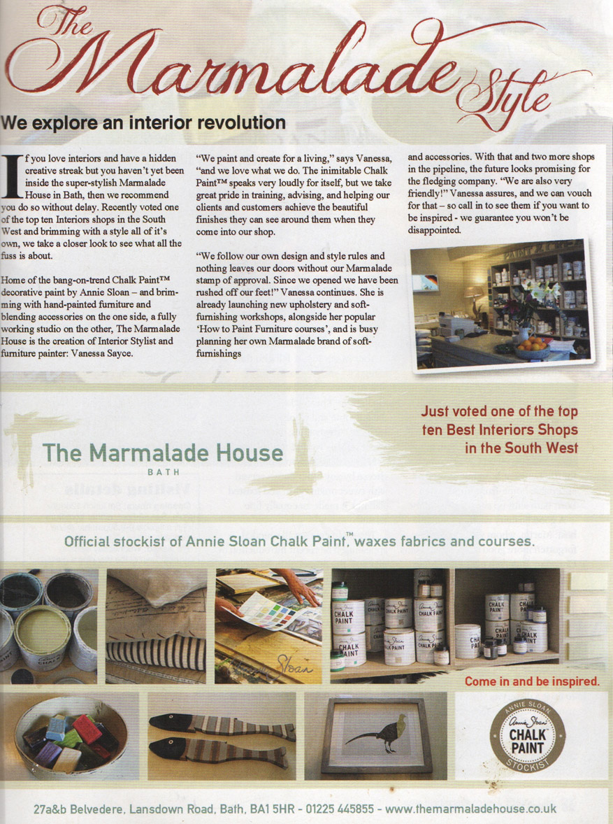 Article - 'The Marmalde Style'